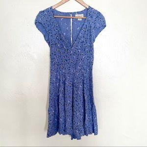 Denim & Supply Ralph Lauren blue floral dress 6